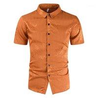 Gömlekler Yaz Casual Yaka Boyun Tasarımcı Katı Renk Yeni Stil İnce Giyim Erkek Çiçek Yazdır tişörtleri