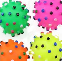 Colorful Sounding Pvc sfera Cani Massaggiagengive giocattoli di masticazione Interessante Cute Dog dentizione per massaggi 6,5 centimetri Suit Multi Size animali giocattolo