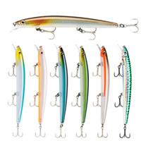 Beliebte Minnow-Fischen-Köder 13cm 15g Schwimm harten Wobbler Crankbait 3D Eyes Künstlicher Köder Trout Pike Karpfenangeln
