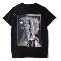 2020 새로운 남성 스타일리스트 T 셔츠 남성 여성 캐주얼 블랙 화이트 여름 T 셔츠 패션 스트리트 짧은 소매 크기 S-XXL