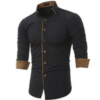New Casual Stylish Slim Fit Dress Shirts Size M L XL XXL XXX...