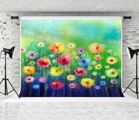 Sueño 7x5ft (220x150cm) Primavera colorido telón de fondo floral de la acuarela pintura del fondo de Fotografía de la sesión fotográfica del fotógrafo Estudio Prop