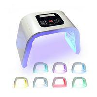 7 빛 LED 페이셜 마스크 OMEGA 빛 광자 치료 기계 몸 얼굴 피부 회춘 여드름 주근깨 제거 살롱 아름다움