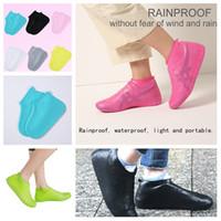 Zapatos de la cubierta de gel de silicona a prueba de agua de lluvia zapatos Cubiertas reutilizables de goma botas de lluvia Elasticidad Overshoes reciclable T2I5354