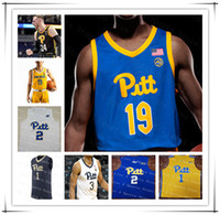 2021 피츠버그 Panthers Pitt Basketball Jersey College Trey McGowens Xavier Johnson Justin Ryan Murphy 사용자 정의 4XL