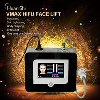 VMax HIFU 초음파 얼굴 기계 피부 강화 유방 리프트 안티 에이징 바디 쉐이핑 링클 리무버 Vmax 초음파 스파 뷰티 장비