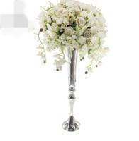 Novo estilo de Vela flor arco Parede Aniversário Duplo Haste Backdrop Tubo E Drape flor a granel suporte Para O Casamento