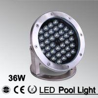 5pcs / lot 36w luce esterna bianca / RGB 12V 24v LED Piscina Paesaggio Fontana Illuminazione Pool Light Led Underwater Light