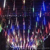 20 см 30 см 50 см метеоритный дождь 8 трубки светодиодные огни строки водонепроницаемый для Рождество свадебные украшения люстры 110 В-220 В crestech