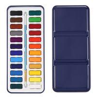 24 pintura aquarela conjunto com pincel no caso pintura artista de arte de cor de água Kit