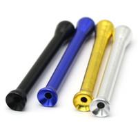 색상 1 8kr E1을 담배 도구 (4) 흡연 포켓 스니퍼 콧김이 거센 튜브 파이프 합금 스트레이트 필터 스너프 코 파이프 휴대용 Handpipes