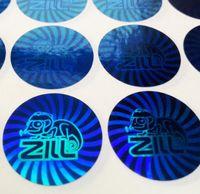 ordine personalizzato di anti-falsificazione adesivi olografici, monouso ologramma anti-contraffazione manomettere etichetta evidente per la sigillatura di sicurezza, Articolo no CU86