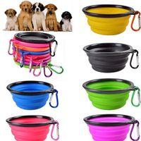 السفر قابلة للطي الكلب القط تغذية السلطانية اثنين أنماط الحيوانات الأليفة طبق المياه المغذية سيليكون طوي وعاء مع هوك 18 أنماط لاختيار eea743