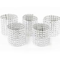 Оптовые кольца для салфеток для свадебного приема партии настольных украшений Supplies Председателя Свадебного Sash Алмазных сетки Wrap Салфетка пряжка DBC DH0592