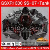 Kit für Suzuki Black Red Hot GSXR-1300 GSXR1300 Hayabusa 96 97 98 99 00 01 07 24HC.74 GSXR 1300 1996 1997 1998 1999 2000 2001 2007 Verkleidung