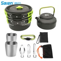 Camping Cookware Kit Camping Pans Portable Cook Set for with...