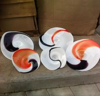 Круглые цветные выдувного стекла руки Тарелки для Wall Hotel Decor 100% Mouth Blow ремесла Гобелен СВЕТИЛЬНИК