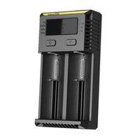 Original New Nitecore I1 I2 I4 I8 D2 D4 Universal Intellicharger LCD E Cig Carregador para genuína 18650 18350 18500 14500 Bateria