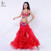 Costumi Donne Bellydance Danza Orientale Bra cinghia del pannello esterno di prestazione di sferette carnival Indossare la sciarpa dell'anca sexy Orientale