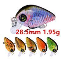 Gemischt 10 Farbe 28,5mm 1.95g Kurbel Angelhaken Fishhooks 14 # Haken Harte Köder Lustern B-032