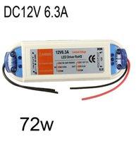 12V 6.3A llevó transformador de la luz de tira del LED 75W adaptador de fuente de alimentación