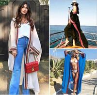 Kadınlar Plus Size İşlemeli Yaz Beachwear Kapak Ups Uzun Hırka Bluzlar şifon Kaftan Plaj Tunik Banyo Elbise Robe Swim Giyim Cover-Ups