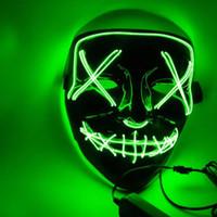 크리스마스 마스크 LED 라이트 파티 마스크 퍼지 선거 년 좋은 재미 마스크 축제 코스프레 의상 용품 어두운 10 색