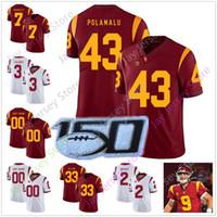 Personnalisé USC Trojans Footbal Jersey College Sam Darnold Ronnie Lott Robert Woods Rhett Ellison Reggie Bush O.J. Simpson Mark Sanchez Marcus A