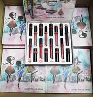 Date M Kit Rouge À Lèvres Liquide Mat Brillant À Lèvres + Ensemble De Rouge À Lèvres 16pcs / set Lipgloss DHL Livraison gratuite