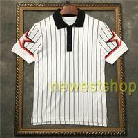 2021 Neue Männer Streifen T-Shirt Ärmel Pentagram Stern Druck Polo T-shirt Herren Kurzarm Baumwolle Casual Designer T-Shirt T-Shirt