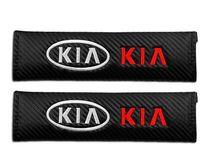 2 pcs cinto de segurança do carro cinto de segurança do carro de fibra de carbono para KIA K2 RIO K3 K5 KX3 KX5 Sorento Forte Optima Sportage acessórios do carro