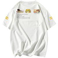 Estate selvaggia maglietta casuale bello marea allentata camicia versione coreana del trend di sport a maniche corte T-shirt da uomo