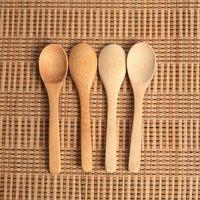 Çeşni Küçük kullanma Ahşap Jam Kaşık Bebek Bal Kaşık Çay Kaşığı Yeni Narin Mutfak 12.8 * 3 cm RRA2837-4