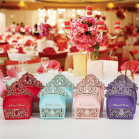 Sweet Love Wedding Candy Boxes Golden Crown Design European ...