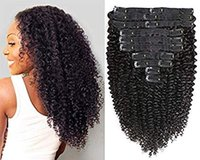 Kinky Curly Clip no clipe ins das extensões do cabelo 8A Real Remy 3C Cabelo 4A Kinkys cabelo encaracolado Humano para 8pcs Mulher 120g