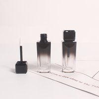 زجاجات تخزين الجرار 10ML أسود التدرج البلاستيك التجميل شفاه الشفاه أنبوب أحمر الشفاه، فارغة مربع الصقيل المخفي زجاجة إعادة الملء
