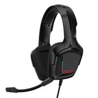 ONIKUMA K20 Gaming Headset PS4 cuffie 3,5 millimetri PC Gamer stereo gioco Cuffie con microfono / Led