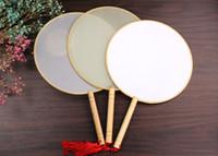 2020 Nueva llegada de seda fan nupcial borla cultura china Doble mano pintura DIY regalo Accesorios de boda