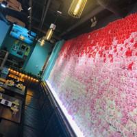 40 * 60cm Nouveau mur de fleur de mariage avec support de fleur coloré pour les fournitures de décoration de fête de mariage peut personnaliser