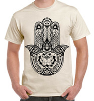 Tribal Hamsa Hand Of Fatima Tattoo Large Print Men' s T-...