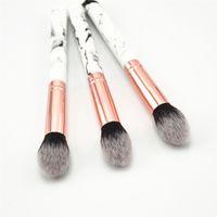 Cepillos de maquillaje de mármol de alta calidad para base en polvo Blush Corrector Máscara pincel Cara Mejilla Contorno Cosmético en polvo Fundación Blush