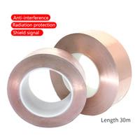 UANME 30 meter Enkele zijde Geleidende koperfolie Tape Strip Adhesive EMI Shielding Hittebestaling Tape 15mm 20mm