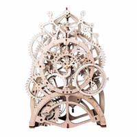 Vintage Oggettistica per la casa fai da te artigianato in legno Orologio a pendolo Modello Kit decorazioni meccanico della vigilanza della parete ingranaggi Clockwork per il regalo