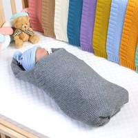 15 farben 100 * 80 cm baby gestrickte decke neugeborene massivfarbe decke weicher spaziergang wrap decken säugling swaddel für kodierkler bettwäsche m2027