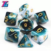 Die decisivo blanco transparente color dados D4-D20 Para RPG Partes Juguetes 7 Colores