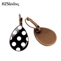 d8d33887c New Arrival. 2019 New Red Polka Dot Ear Clip Colorful Polka Dots Earring  Clips Bronze Glass Dome Jewelry