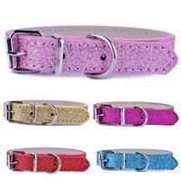 5pcs Pu cuir Chien Chat Colliers Collier Boucle réglable pour petits chiens rose rouge or bleu Couleurs accessoires pour animaux chiot