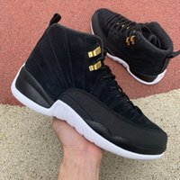 12 12s Basketball shoes for men Game Royal triple black Reve...