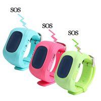 Q50 Kinder GPS-Verfolger Kinder Smart-Phone Watch SIM Quad-Band-GSM-Tresor SOS-Anruf für Android IOS Smart Watch-SIM-Karte