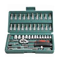 Conjuntos de ferramentas de mão profissional 46pcs / set Mechanics carro conjunto de aço carbono combinada chave chave chave chave chave de fenda para a caixa de ferramentas de reparo automático